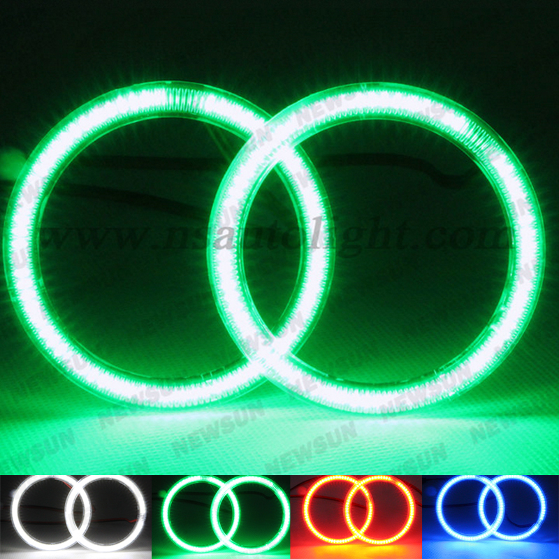 3014 SMD led ring halo lights, 72mm 80mm 90mm 105mm 120mm 125mm 140mm xenon white blue green red angel eyes auto led headlight super bright 102 smd 3014 led car angel eyes halo ring light for honda crv07 xenon white halo ring headlight bulbs 7000k
