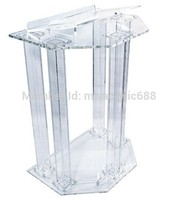Púlpito móveis Frete Grátis Preço Razoável Transparente Barato Limpar Acrílico Púlpito de acrílico púlpito de acrílico