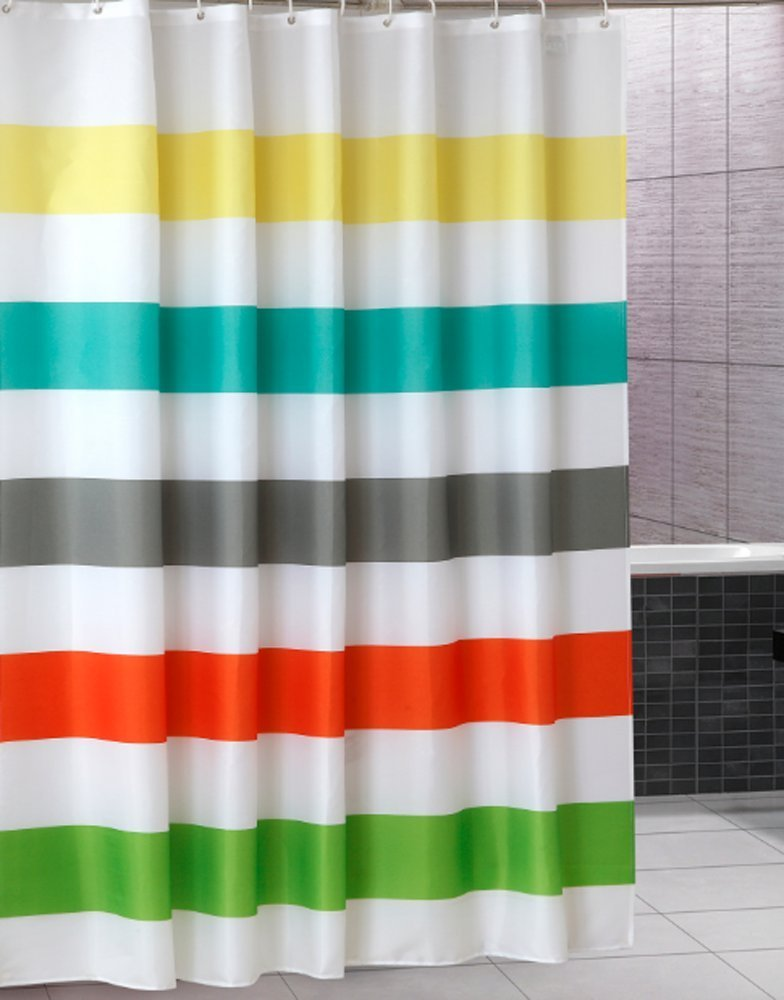 Warm Tour Colorful Rainbow Cross Stripe Fashion Shower Curtain Polyester Hotel Bathroom With Hooks Ring72 X72 Inch In Curtains From Home