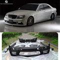 W220 WALD stijl Auto body kit FRP Ongeverfd front achterbumper fenders Side rokken voor Mercedes Benz W220 S500 WALD 01-05