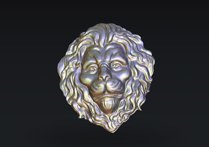 L34, 3d Lions Relief Sculpture Model CNC Router Milling Engrave STL File