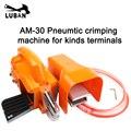 AM-30 Новый воздушный обжимной станок пневматический обжимной инструмент для кабельных наконечников разъемов с 1 штампов замена AM-10