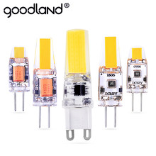 G4 LED Lamp Mini Dimmable 12V DC/AC 3W 6W LED G4 LEDs Bulb Chandelier Light Super Bright G4 COB Silicone Bulbs Ampoule G9(China)