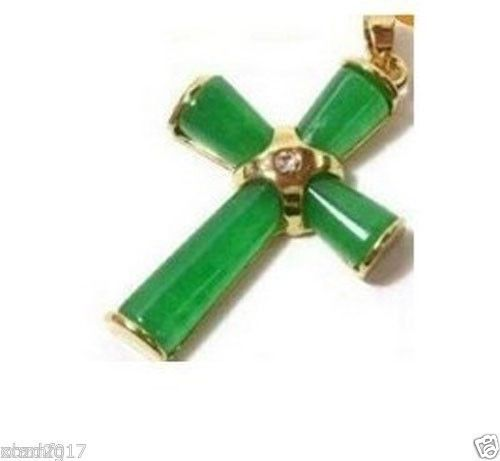 Wholesale price free shipping 5pcs delicate green stone cross wholesale price free shipping 5pcs delicate green stone cross pendant necklace a b s ii in pendants from jewelry accessories on aliexpress aloadofball Image collections