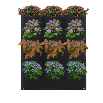 Vertical Garden Planter Wall Hanging Plant With Pots For Indoor Outdoor Home Patio Balcony Office Garbage Bags Container Product