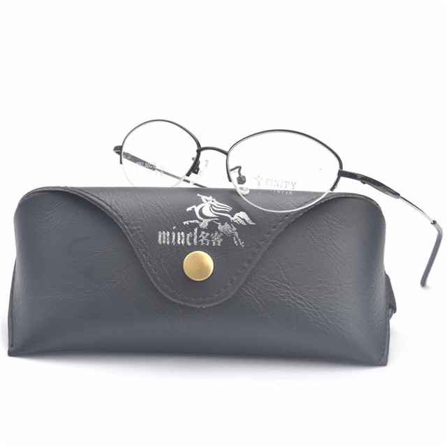 MINCL/ Fashion Oval Eyeglasses Frame Women Half Rimless Glasses ...