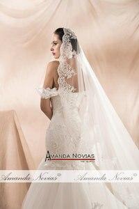 Image 4 - Amanda Novias 2020 New Model Mermaid Wedding Gown Beading Lace Wedding Dress