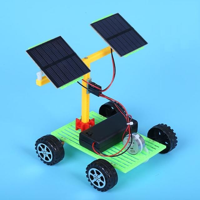 Coche de la Energía Solar para Los Niños de Educación temprana Juguetes de Inteligencia Auto-Estudio de Juegos de Herramientas Juguetes Educativos Eléctrico Alimentado de Energía li