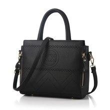 Korean Style New Fashion font b Handbag b font Famous Brand Embossing Ladies PU Leather Shoulder