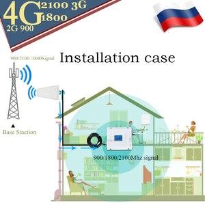 Image 5 - 4g repetidor de sinal 900 dcs lte 1800 wcdma 2100 tri band impulsionador de sinal telefone móvel 2g 3g 4g celular repetidor