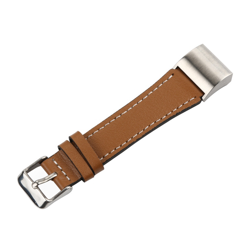 New Arrive Replacement Classic Leather Wristband With Metal Connectors For Fitbit Charge 2 s3
