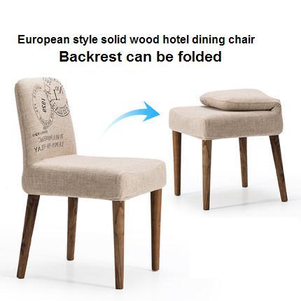 estilo europeo de madera maciza silla de comedor de madera maciza silla de caf sillas del