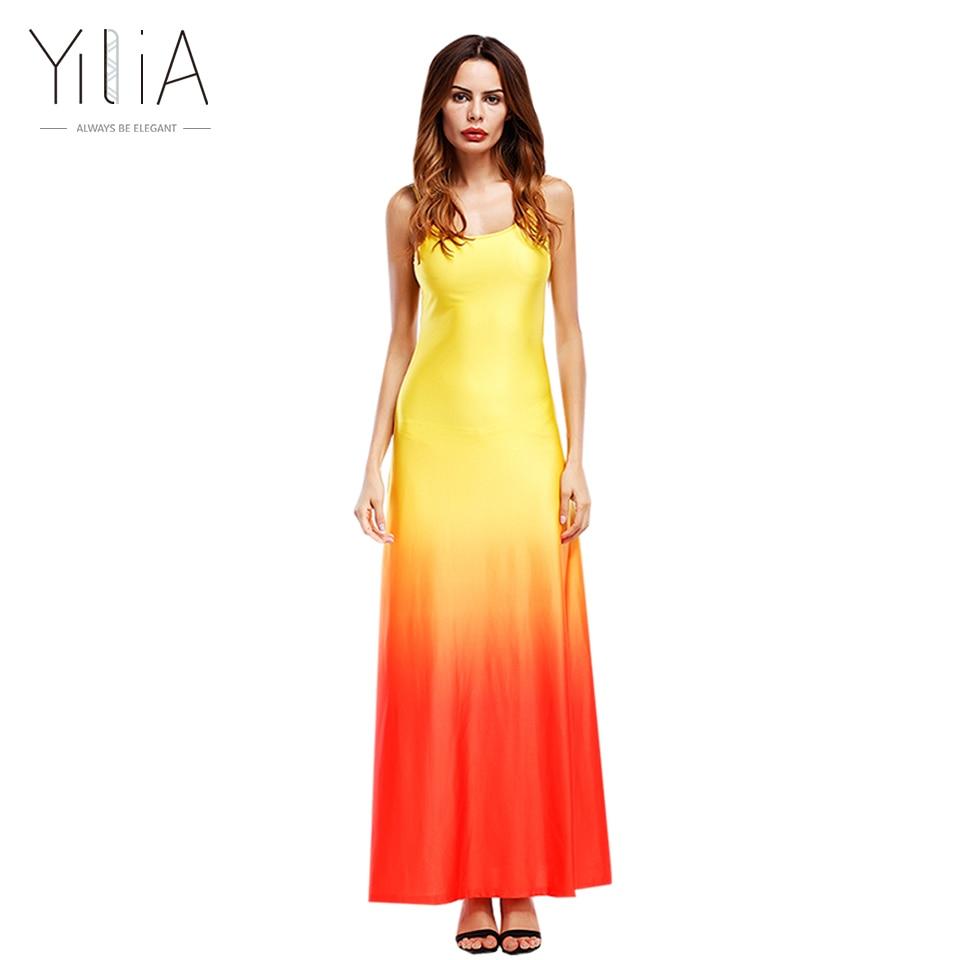 Yilia women beach dress 2017 2017 maxi long dress boho for Summer maxi dress for wedding