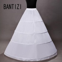 Hot Sale 4 Hoops Petticoat Ball Gown Wedding Accessories Slips Crinoline Petticoats For Wedding Dress Underskirt