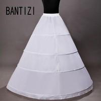 Hot Sale 4 Hoops Petticoat Ball Gown Wedding Accessories Slips Crinoline Petticoats For Wedding Dress Underskirt