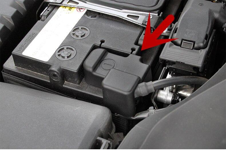 For Hyundai ix25 Creta accessories battery negative -protection cover Frame Clip Case ABS Plastic products creta 2015-18