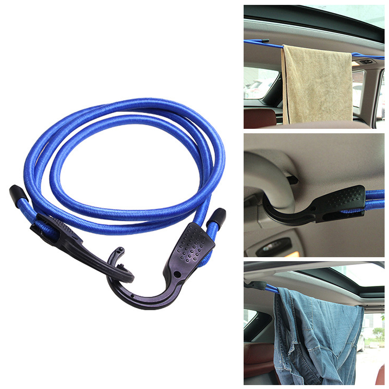 1.5M Car Vehicle Luggage Rope Adjustable Stretch Elastic Clothesline Tensioning Belts Coat Hanger Interior Accessories