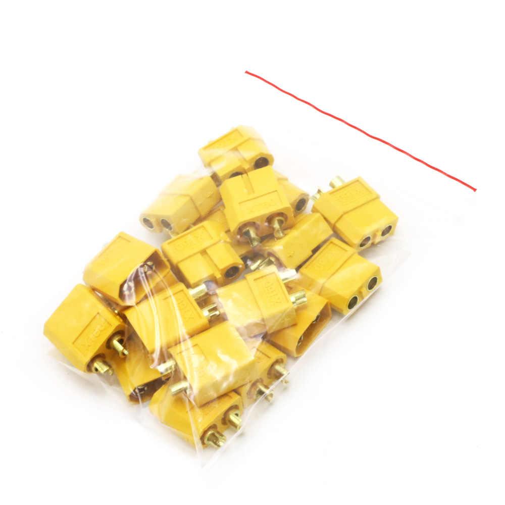 10/20 個 XT60 XT-60 男性女性ブレットコネクタプラグ rc リポバッテリー (5/10 ペア) 卸売