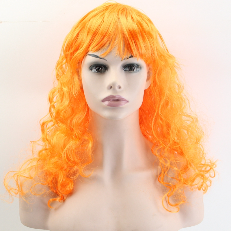 JOY&BEAUTY 50CM Synthetic Hair Wig Body Wave Halloween Masquerade Cosplay Stage Show Costume Party Wig 20 Color Available