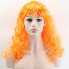 JOY&BEAUTY 50CM Synthetic Hair Wig Body Wave Halloween Masquerade Cosplay Stage Show Costume Party Wig 20 Color Available(China)