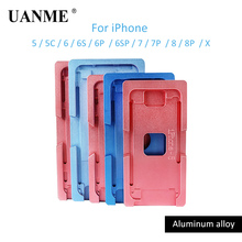 UANME Mould For Compressing Frame For iPhone 5 5S 5C 6 6S 6Plus 6s Plus 7 7Plus 8 8p X Repair Tool Kit цены