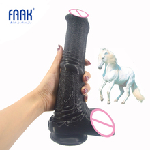FAAK silicone animal horse dildo with suction cup big penis sex toys for women masturbator anal massage adult products