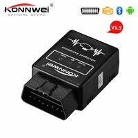 Elm327 Bluetooth OBD2 V1.5 Elm 327 v1.5 OBD 2 Car Diagnostic tool KONNWEI OBD2 Scanner EML327 Pic18f25k80 Auto Diagnostic Tool