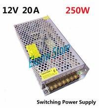250 W 12 V 20A Factory Outlet de Comutação da fonte de Alimentação SMPS Motorista AC110-220V DC12V Transformador para LED Strip Módulo Luz exibição