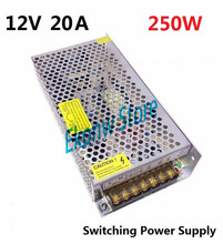 250W 12V 20A Switching Power Supply Factory Outlet SMPS Driver AC110-220V DC12V Transformer for LED Strip Light Module Display