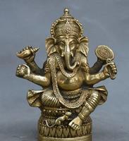 Tibetan Buddhism Brass Ganesha Ganapati Ganesh Lord God Elephant Buddha Statue