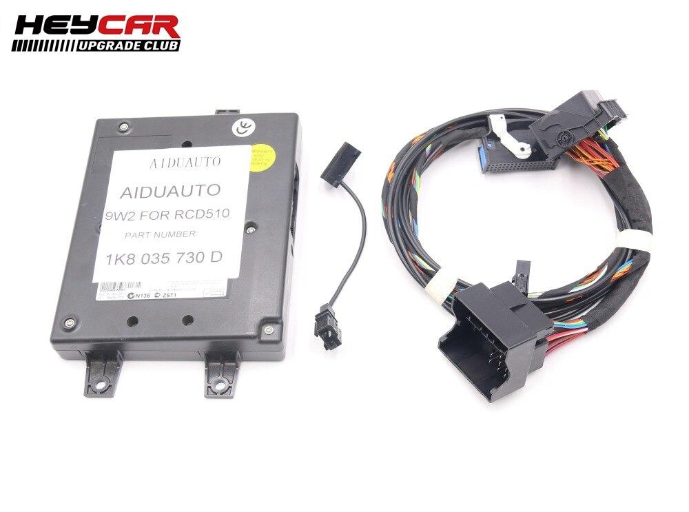 9W2 Bluetooth モジュール + ハーネスマイク 1K8 035 730 D VW ゴルフ MK6 J etta MK5 フィット RCD510  グループ上の 自動車 &バイク からの Bluetooth 車 キット の中 1