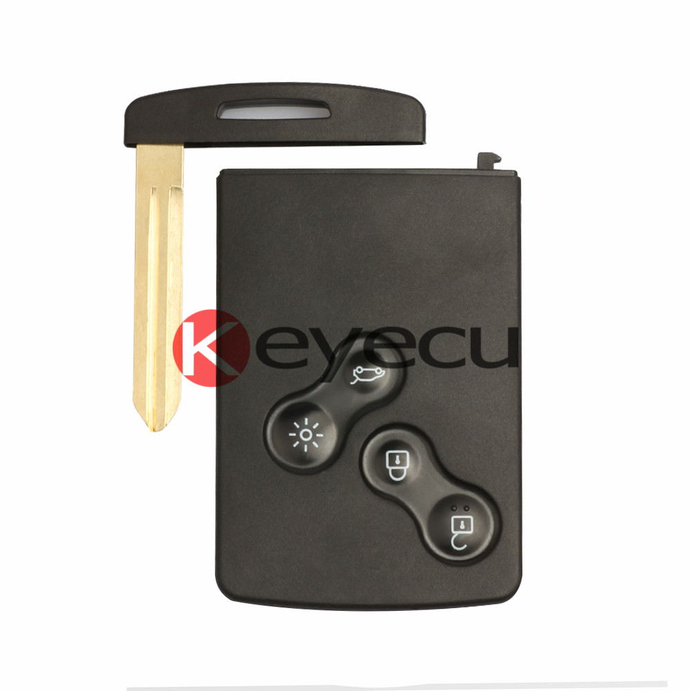Smart Key 4 Button 433MHz With PKE PCF7952 Chip Semi intelligent for Renault Koleos