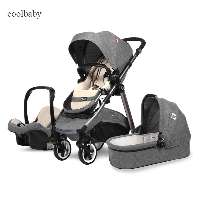 Cool baby 3 in 1 stroller Coolbaby baby two-way suspension high landscape stroller baby four wheel trolley прогулочные коляски cool baby kdd 6699gb t