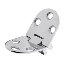 Folding Stainless Steel Marine Boat RV Hatch Locker Door Flush Hinge Strap Hardware 2.6 x 1.1 inch