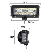 NEW 7Inch 168W Waterproof Off Road LED Work LIght Car Light Bar LED Lights For Trucks