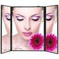 8 Led Iluminado Espejo de Maquillaje Portátil de Tres cara maquillaje 3 Plegable Ajustable de Mesa Encimera Maquillaje Retroiluminado Espejo de aumento