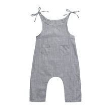 Summer Newborn Baby Girl Clothes Cotton Sleeveless Striped Romper Infant Boy Girl Jumpsuit Kids Clothes Outfit MUQGEW 2018(China)