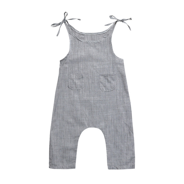c5338126721 Summer Newborn Baby Girl Clothes Cotton Sleeveless Striped Romper Infant  Boy Girl Jumpsuit Kids Clothes Outfit MUQGEW 2018