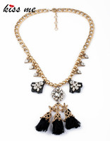 Новый себе ювелирные изделия персонализированные Бусины цепи Ясно Имитация Кристалл Веревка кисточкой Boho Chic Цепочки и ожерелья