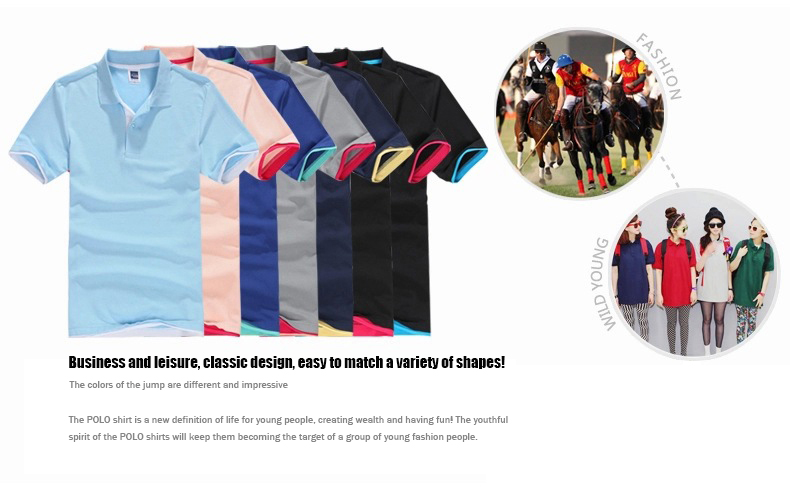 Brand New Men's Polo Shirt High Quality Men Cotton Short Sleeve shirt Brands jerseys Summer Mens polo Shirts 23