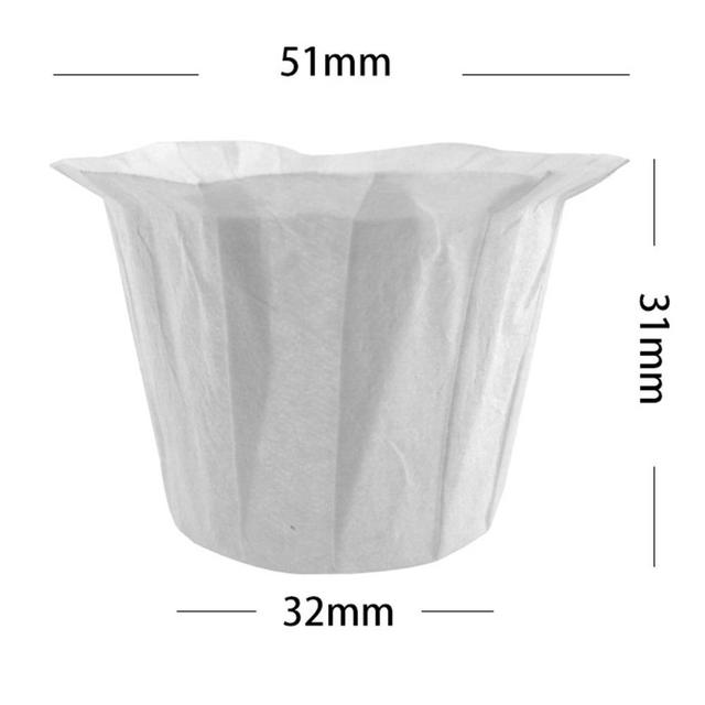 Reusable Refillable Holder K Cup Coffee Filter Cup Disposable Filter Cup Water Purifying Paper Capsule Environmental Easy Clean 5