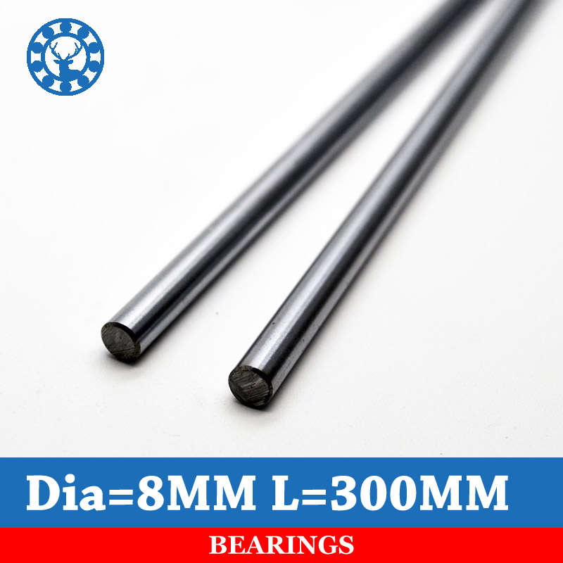 2Pcs 8mm Linear Rod 300mm Chrome Harden Linear Shaft Guide Cnc 3d Printer Parts Free Shipping