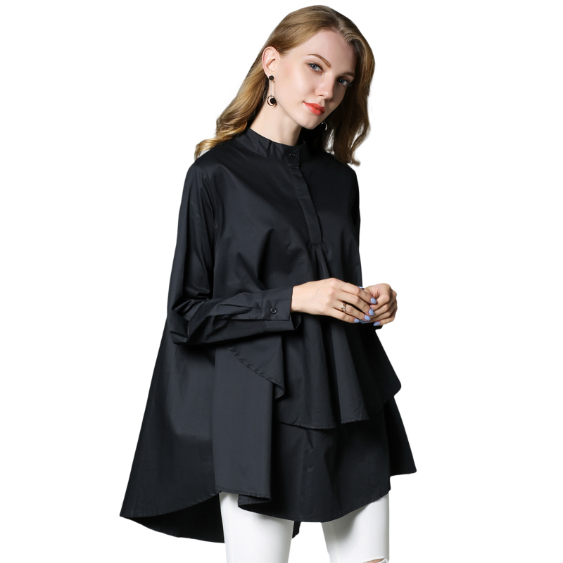 Just Plus Size Women Casual Shirts Loose Thin Shirt Irregular Shirt Long Sleeve Type A Spring Womens Shirt L To 3xl Red Black White High Resilience Women's Clothing