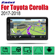 ZaiXi Auto Radio 2 Din Android Car Player For Toyota Corolla 2017~2018 GPS Navigation BT Wifi Map Multimedia system Stereo zaixi auto radio 2 din android car dvd player for toyota corolla 2013 2016 gps navigation bt wifi map multimedia system stereo