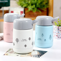 High Quality 300ML Small Forest Matt Vacuum Cup Portable Student Kids Lover Girl Flask Outdoors Stainless
