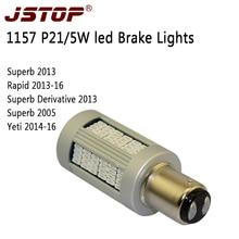 JSTOP yeti superb led car Brake lamps high quality 100 No error BAY15d P21 5W canbus