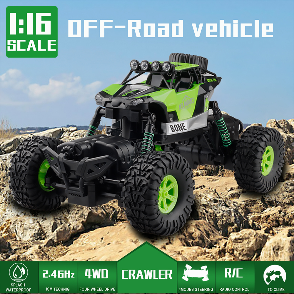 GizmoVine RC Car 2.4G Model 1:16 Scale Rock Crawler Rally Car 4WD Car Double Motors Drive Truck Remote Control Off Road Rc Toys цена