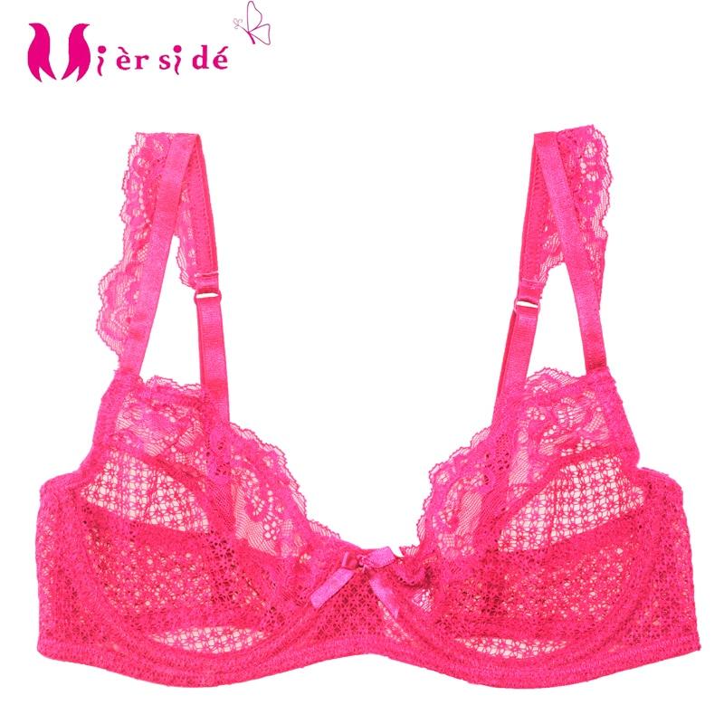 f9d645e483 Mierside Sexy Bralette Transparent Lingerie Underwear Solid bra for women  Single See Through bra