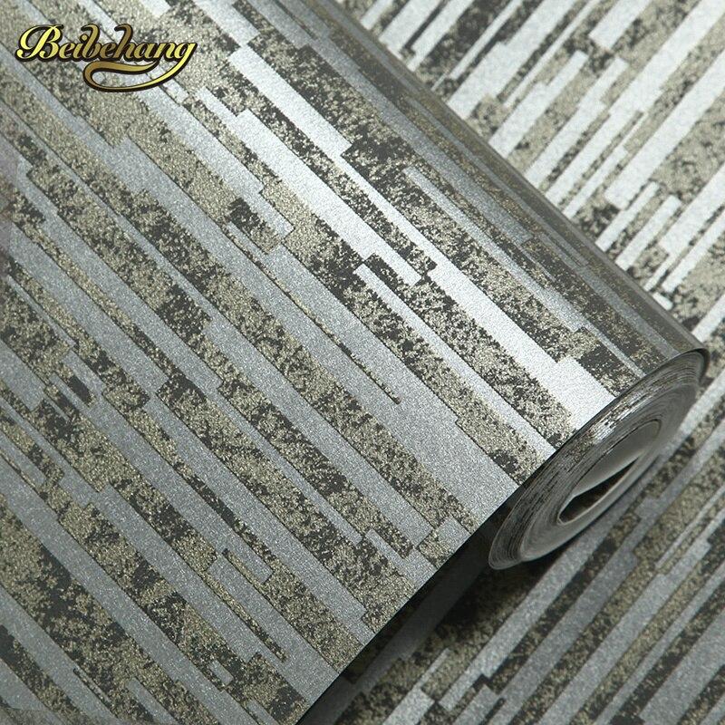 beibehang wall paper. Pune nostalgic retro irregular horizontal stripes non-woven mottled backdrop wallpaper bedroom living room