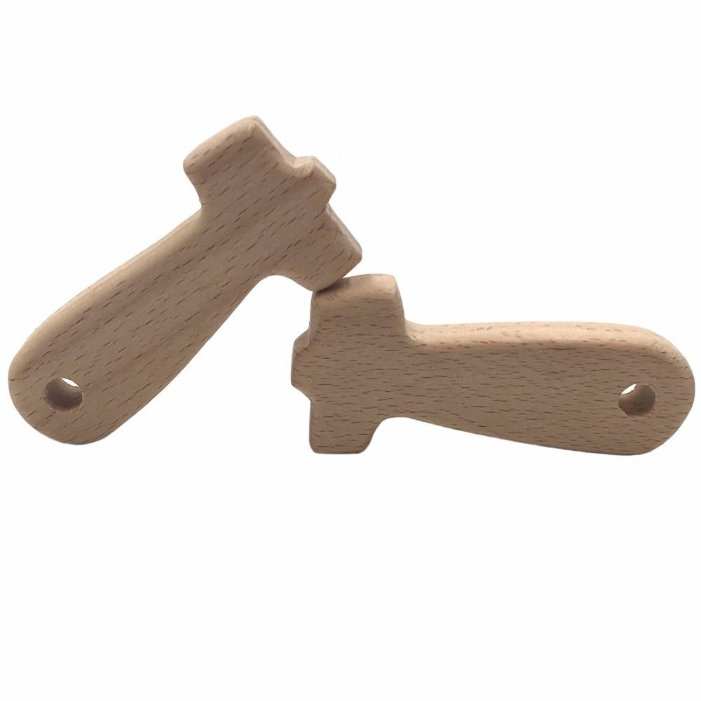 Lustige Werkzeuge Holz Beißring Anhänger 4 teil / satz - Säuglingspflege - Foto 6